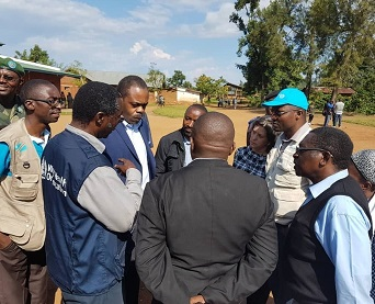 Ministry of Health, WHO and partners conduct first mission to evaluate Ebola outbreak in Mangina, in North Kivu.