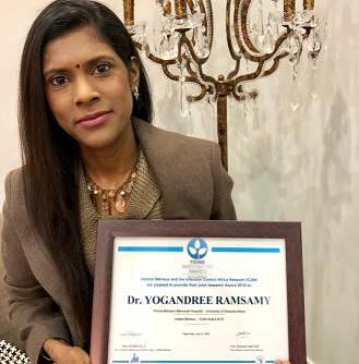 Dr Yogandree Ramsamy awarded 2018 Institute Mérieux-ICAN Young Investigator Award