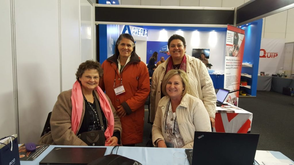 ICAN Booth with some ICAN members and delegates with Yolanda Gouws at SAFHE conference